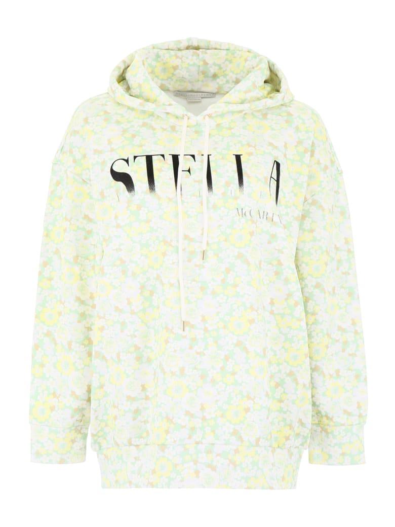 Stella McCartney Floral-printed Hoodie - PALE GREEN COLOURWAY (Green)