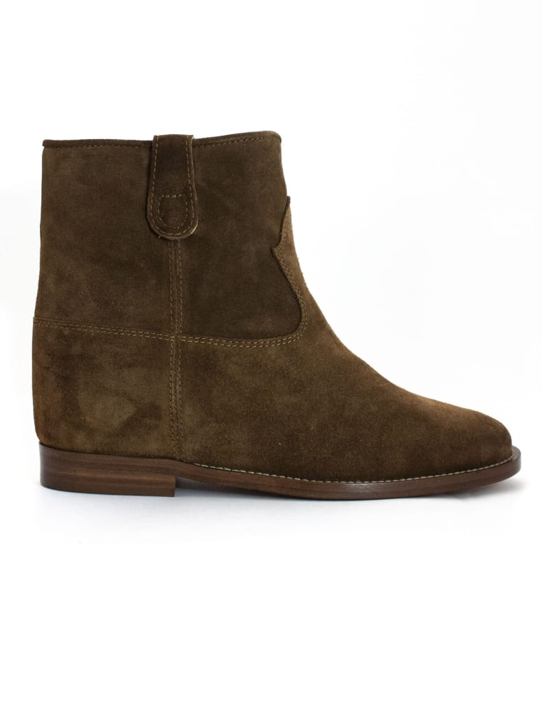 Via Roma 15 Brown Suede Ankle Boots - Martona