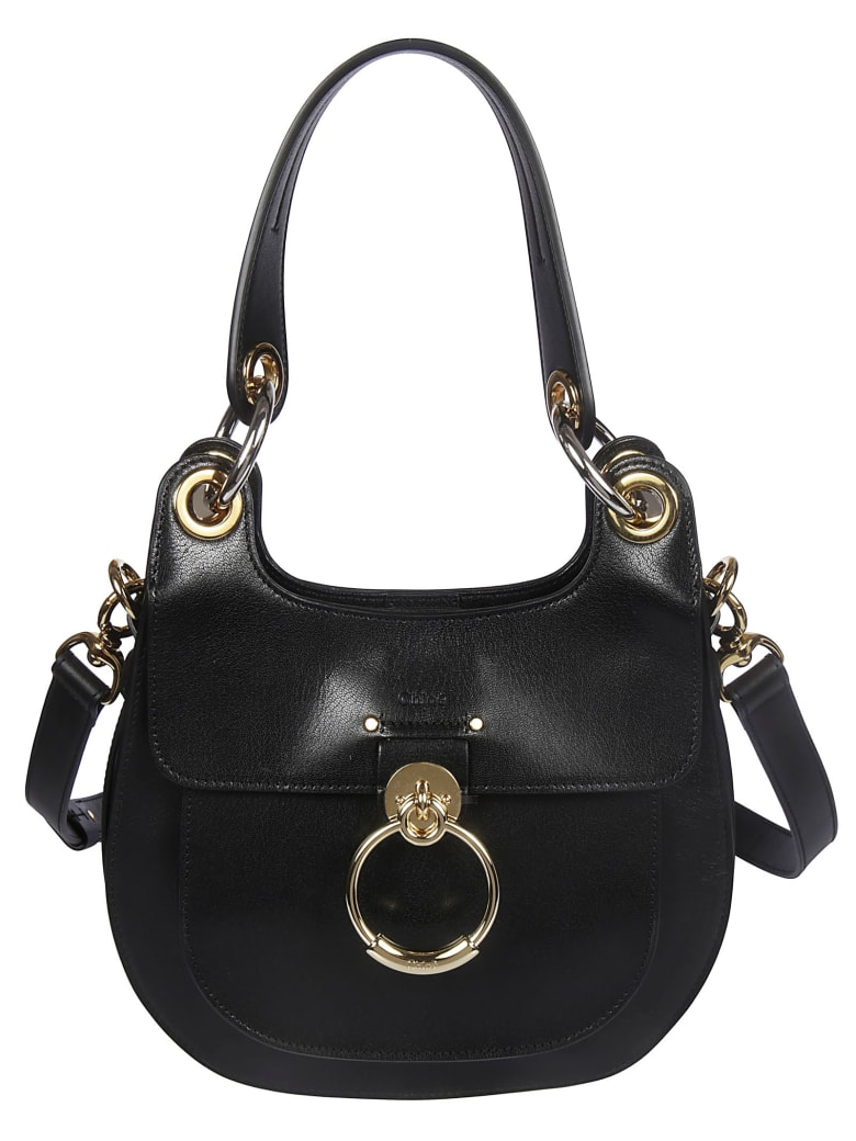 Chloé Logo Shoulder Bag - Black