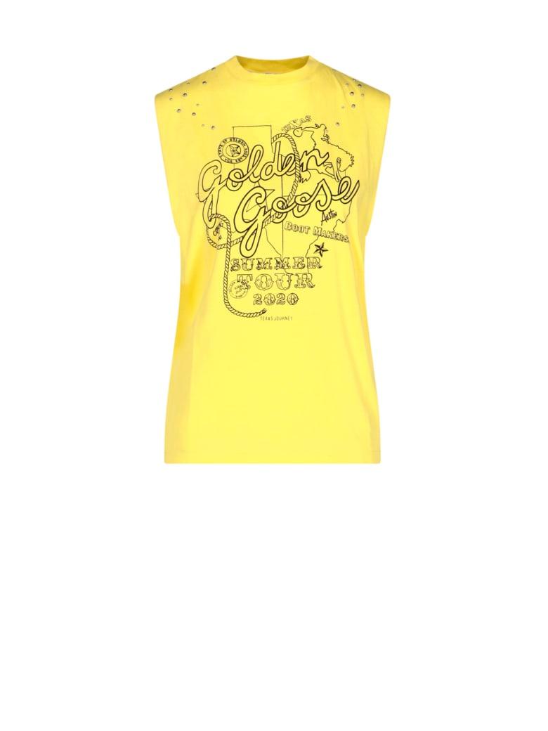 Golden Goose Sleeveless T-shirt - Yellow