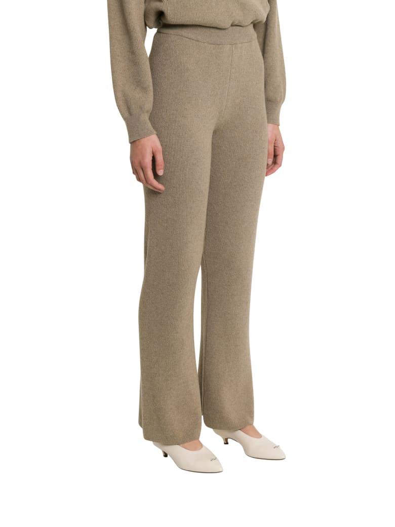 Nanushka Leba High-waisted Ribbed Pants - Beige