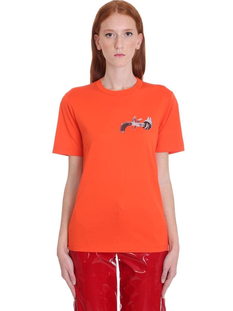Kirin T-shirt In Orange Cotton - orange