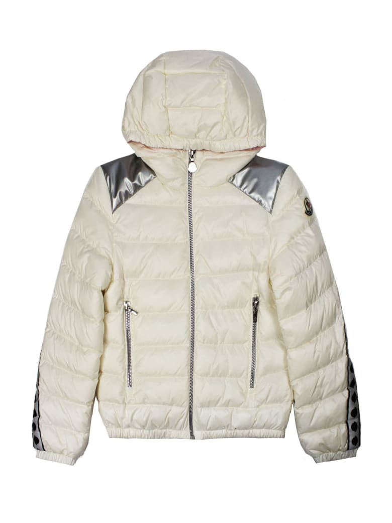 Moncler White Padded Hooded Jacket - Bianco