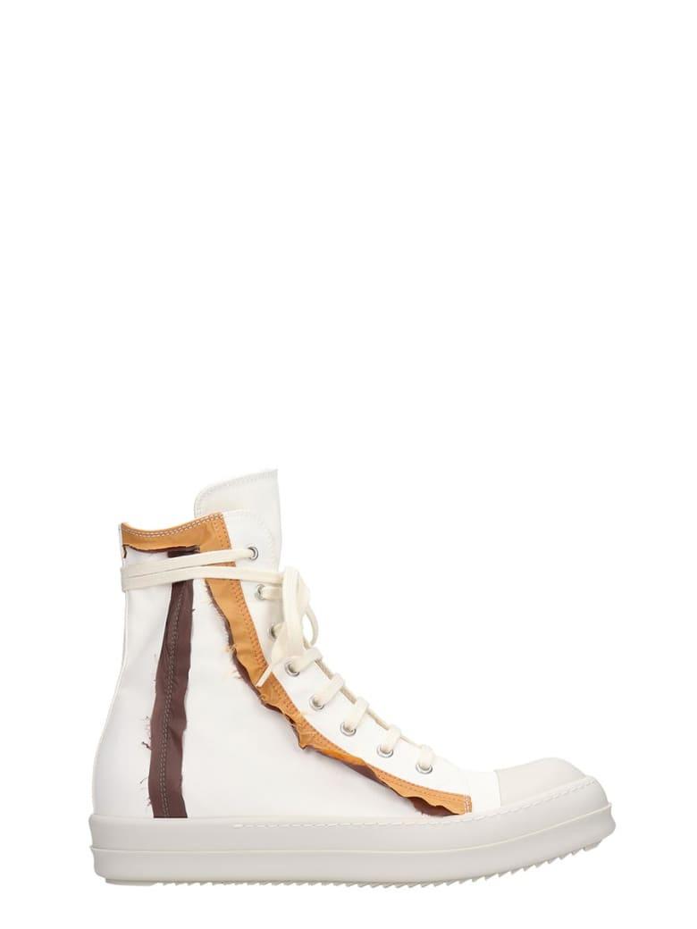 DRKSHDW Sneaks Sneakers In White Canvas - white
