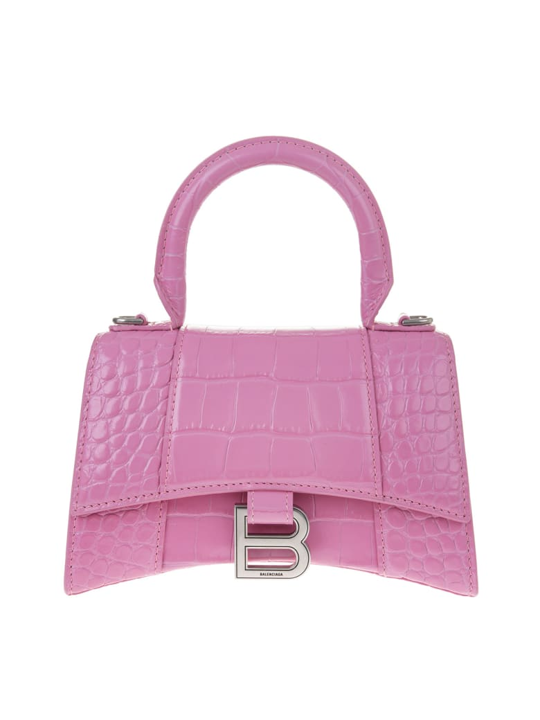 "Balenciaga ""xs""   'hourglass' Handbag - Baby pink"