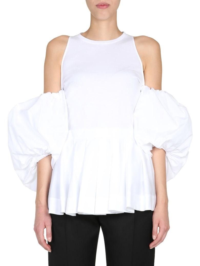 Alexander McQueen Boat Neck T-shirt - Bianco