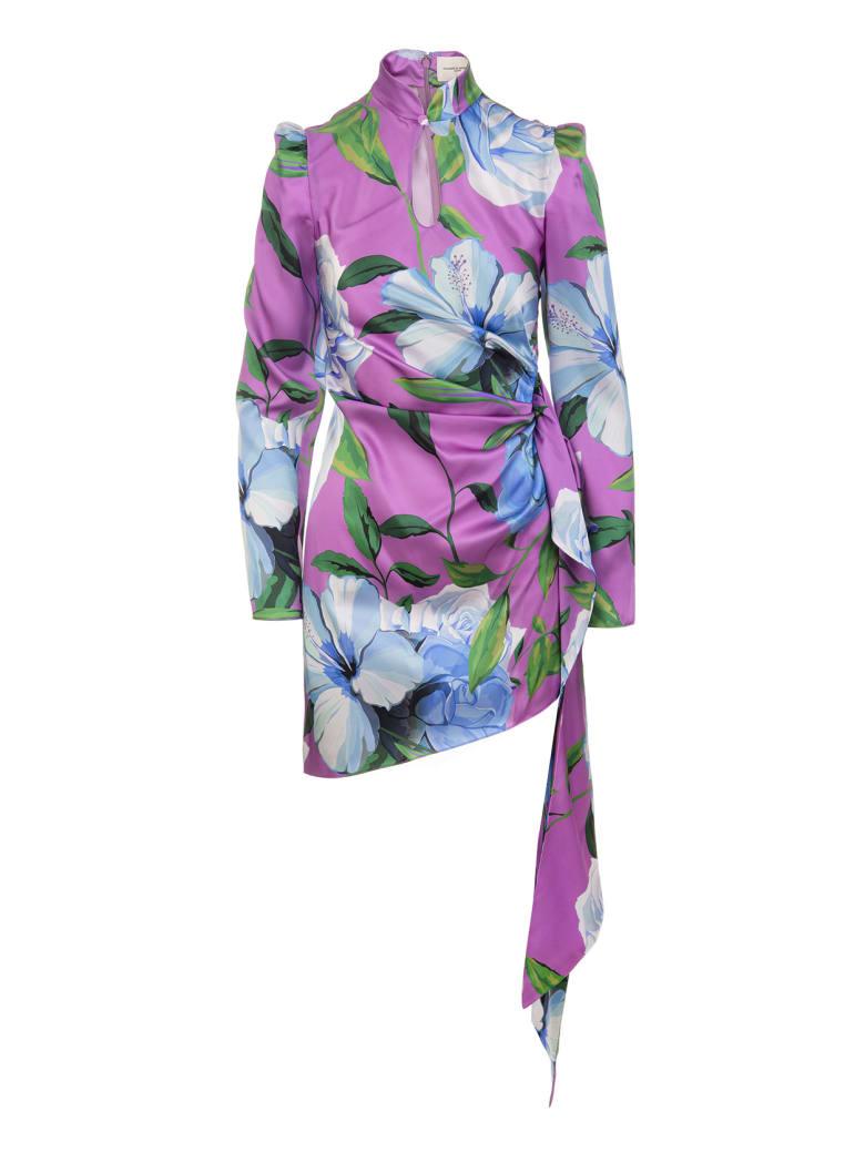 Giuseppe di Morabito Floral Asymmetrical Short Dress With Draping - Flower multi