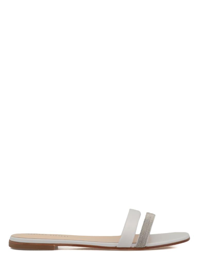 Fabiana Filippi Leather Flat Shoe - WHITE