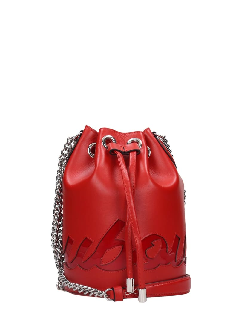 Christian Louboutin Marie Jane Shoulder Bag In Red Leather - red