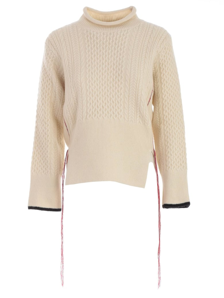 Eudon Choi Knitted Sweater - Off White Black