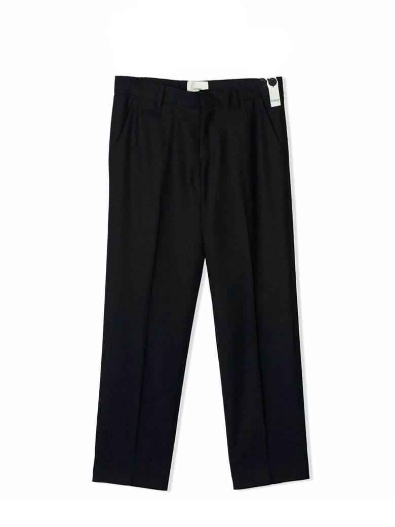 Fendi Navy Wool Trousers - Blu