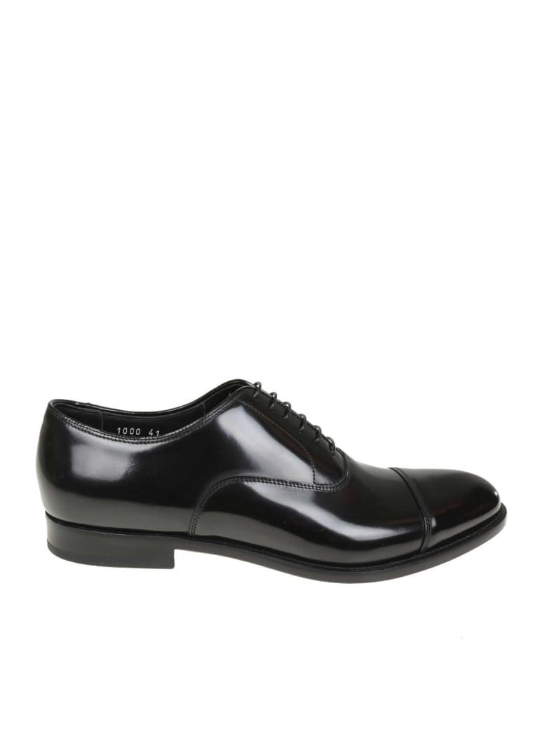Doucal's 332/5000 Doucal's Derby In Black Leather - Black