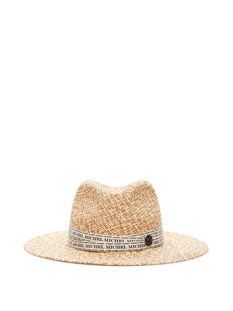 Maison Michel Henrietta Two-tone Straw Hat - NATURAL (Beige)