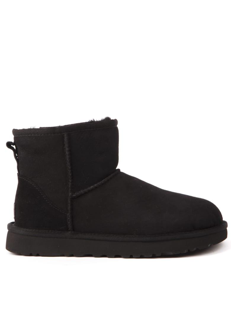 UGG Black Suede Ankle Boots - Black