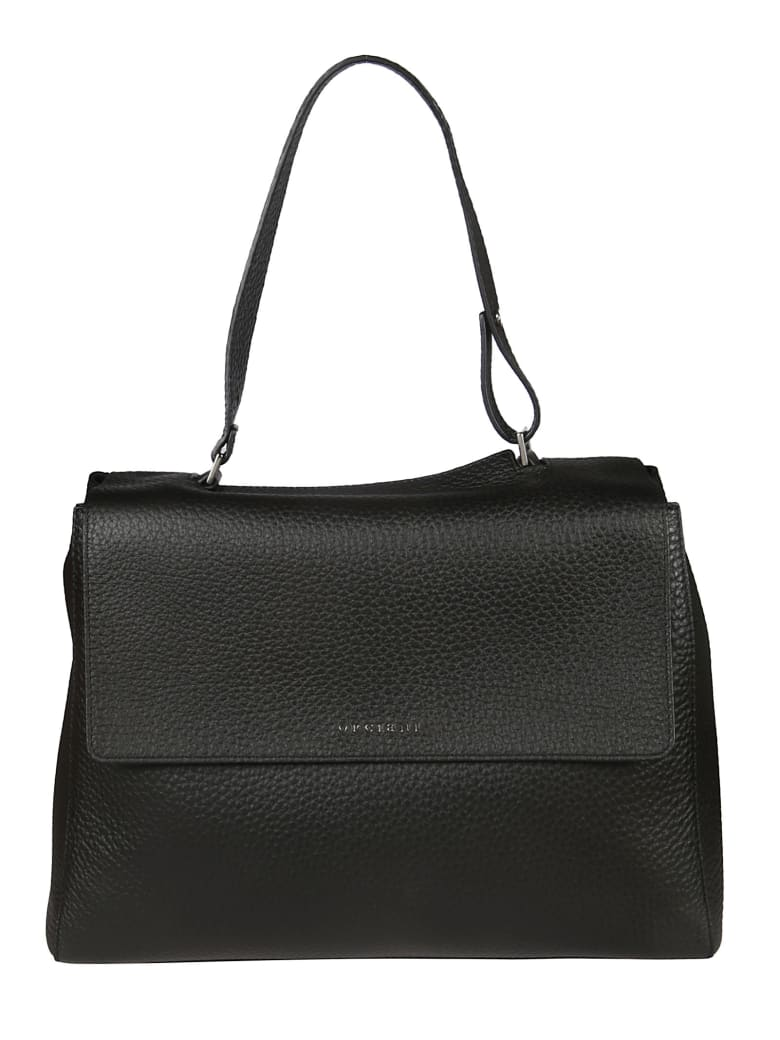 Orciani Logo Shoulder Bag - Black