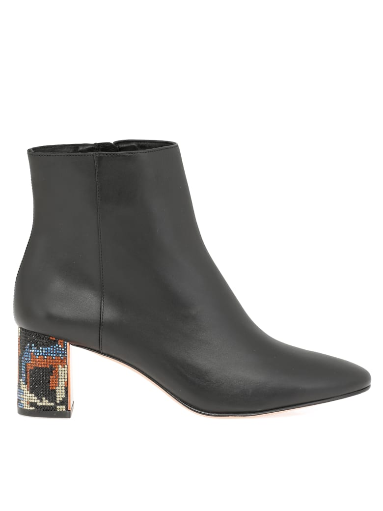 Sophia Webster Ankle Boot - Black & Camo Crystal