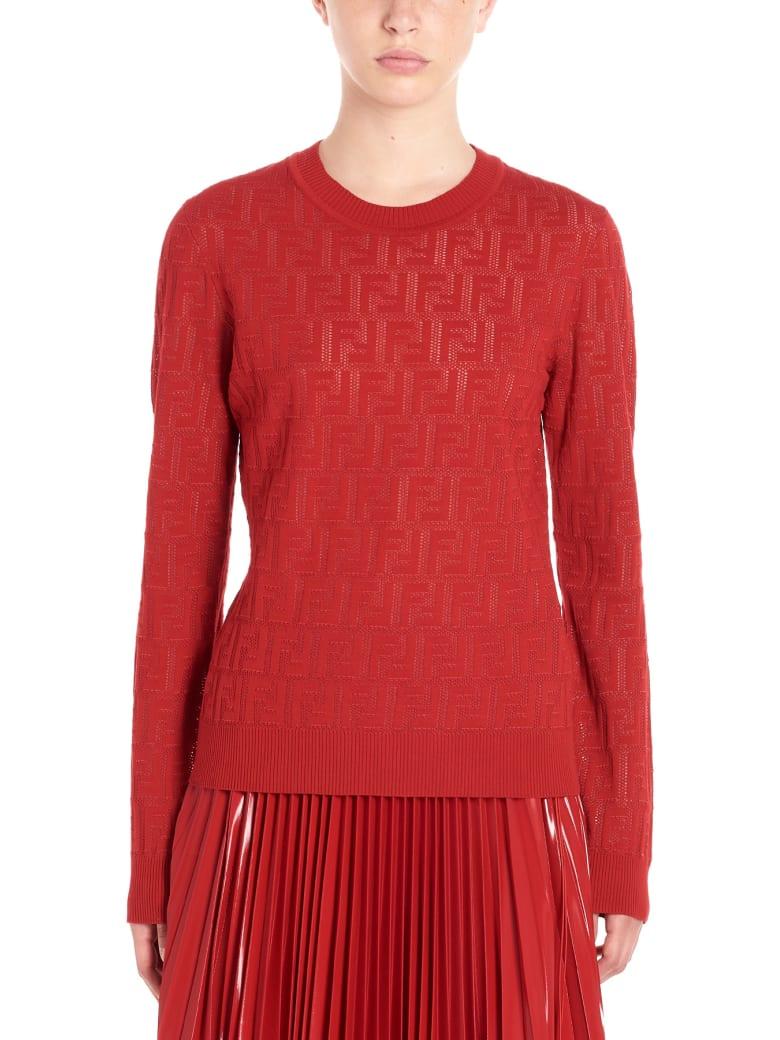 Fendi 'ff' Sweater - Red