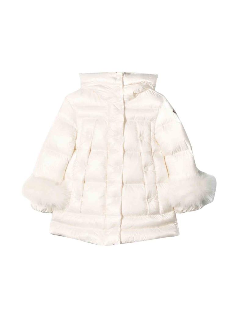 Moncler Girl White Down Jacket