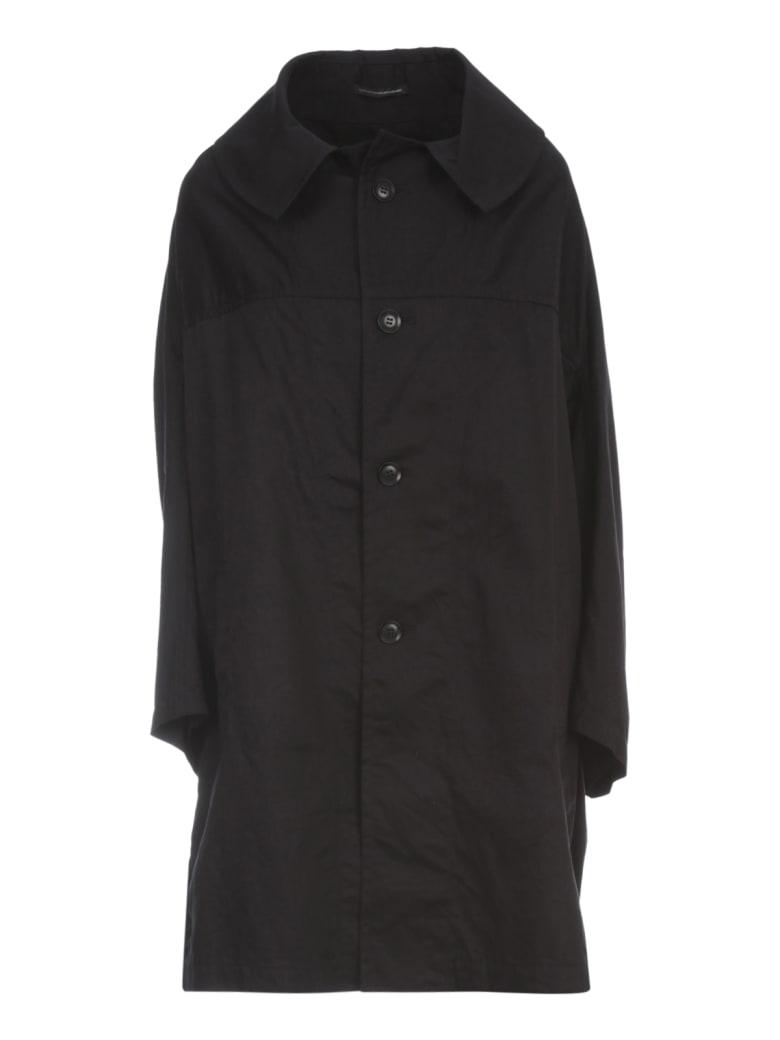Y's U Designed Sleeve Coat - Black