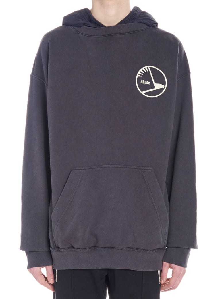 Rhude 'layered French Terry' Hoodie - Grey