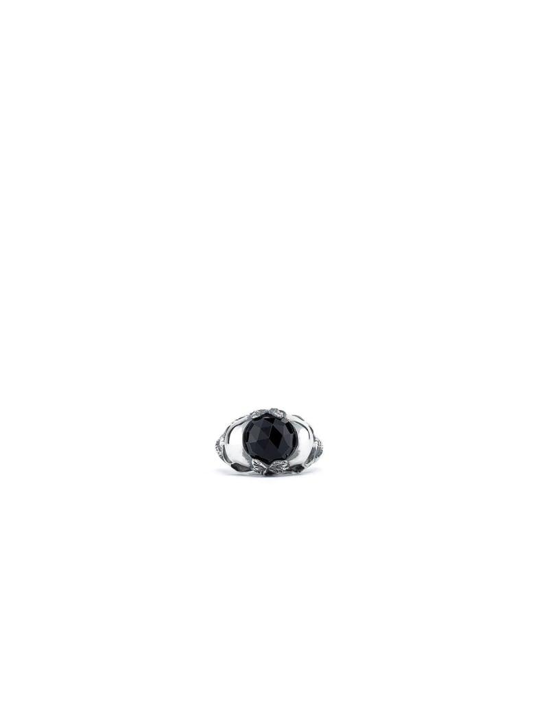 Ugo Cacciatori Double Skull Ring - Silver