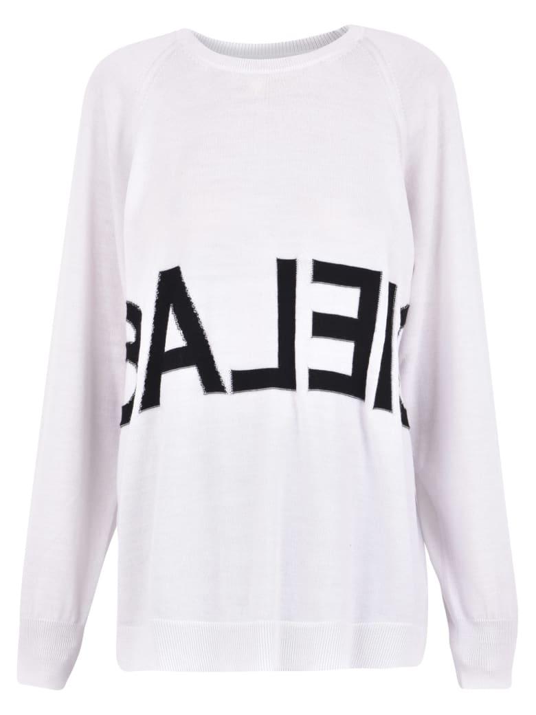MM6 Maison Margiela Branded Sweater - White