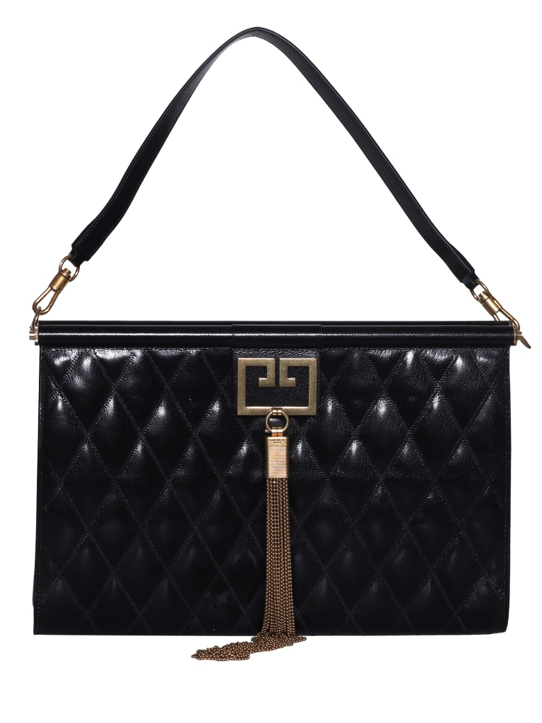 Givenchy Quilted Oversized Clutch - Black