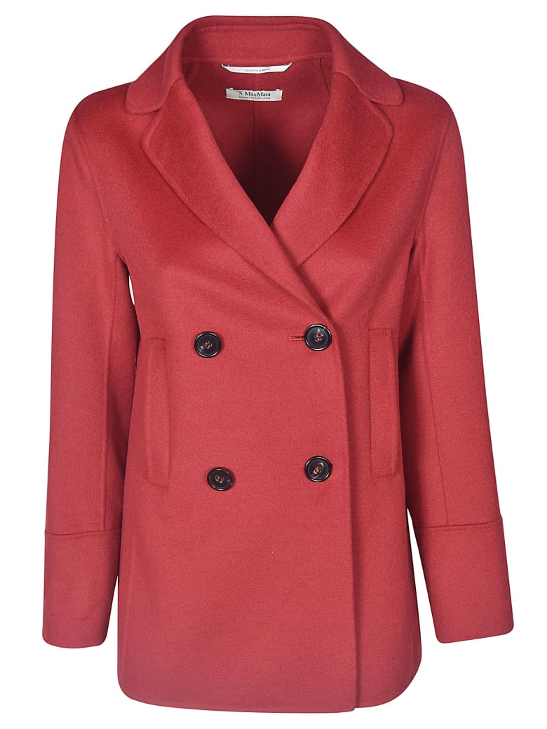Max Mara The Cube Double-breasted Four Buttoned Blazer - Red
