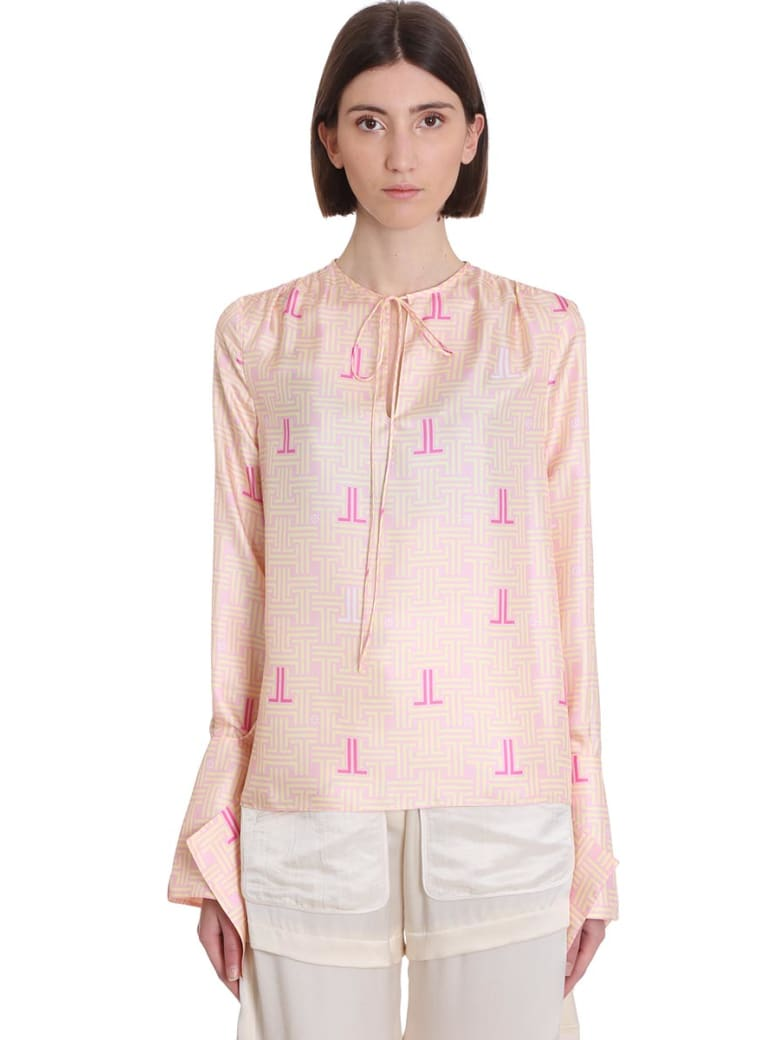 Lanvin Blouse In Rose-pink Silk - rose-pink