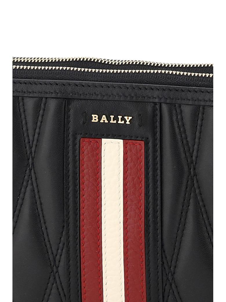 Bally Drice Stripe Quilted Mini Bag - BLACK (Black)