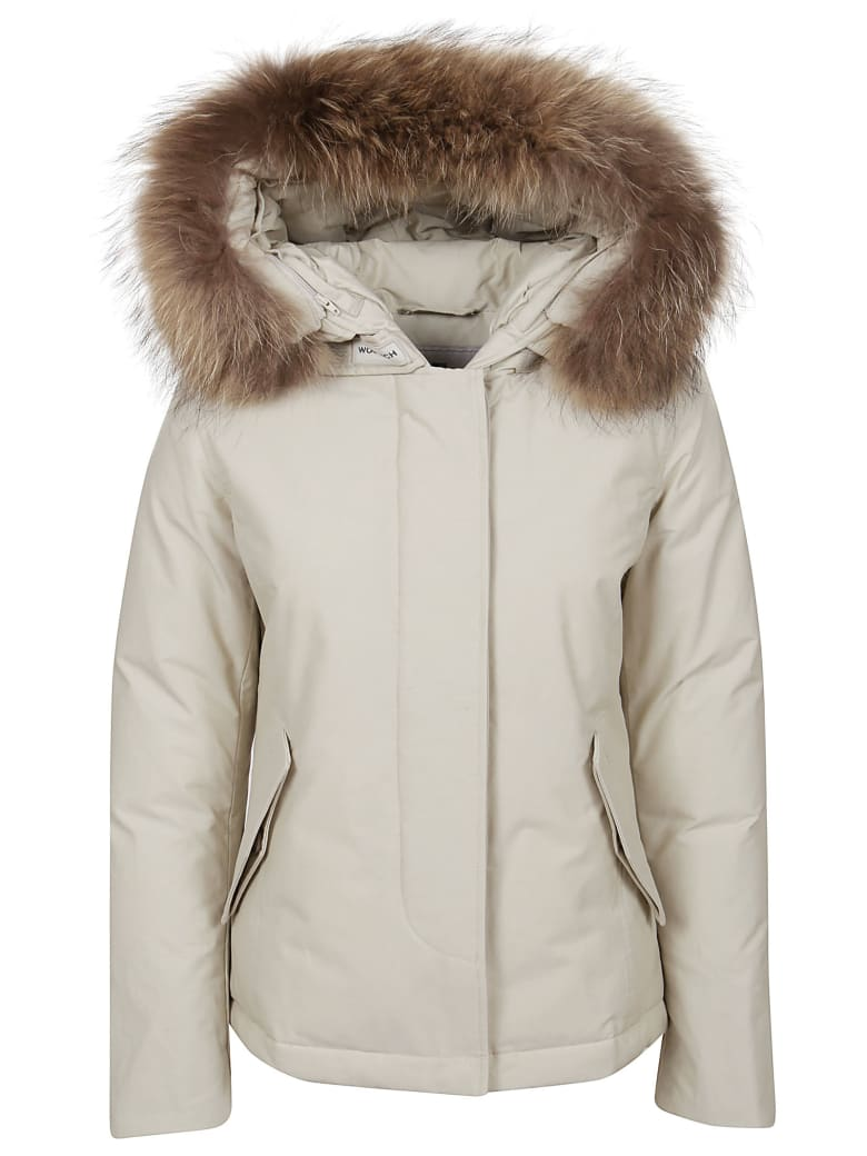 Woolrich Beige Technical Fabric Padded Jacket - Biege