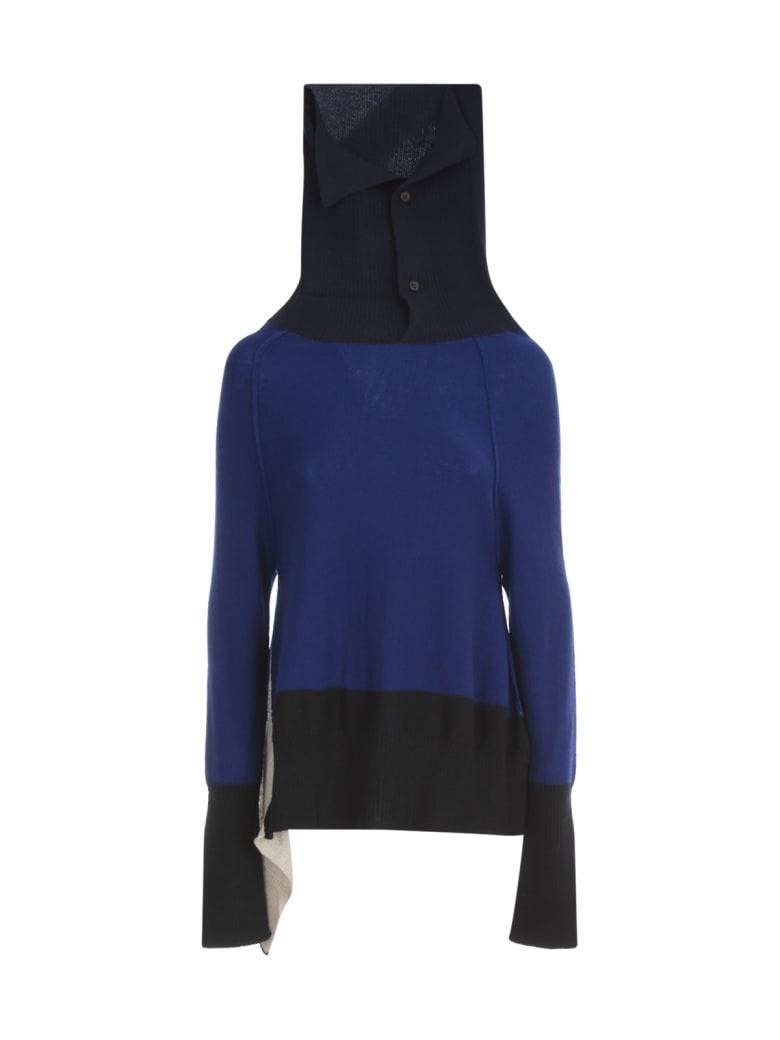 Y's Off N Side Drape Pullover - Blue