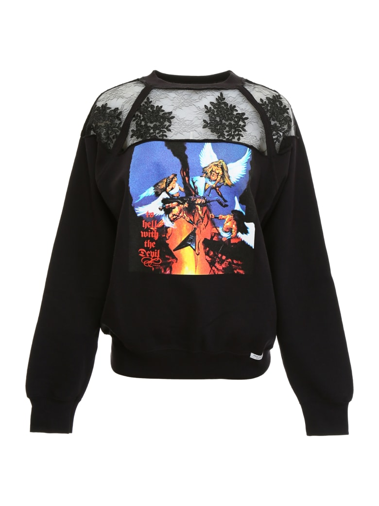 Forte Couture White Rock Sweatshirt - BLACK (Black)