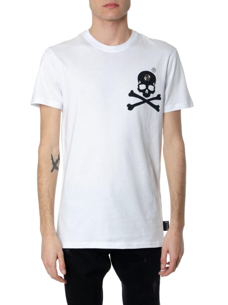 Philipp Plein White Cotton Skull Print T-shirt - White/black