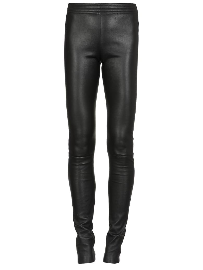 DROMe Leather Leggings - BLACK