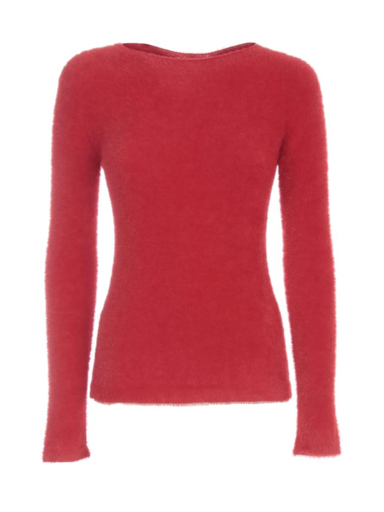 Emporio Armani Sweater L/s Boat Neck Peluche - Rosso