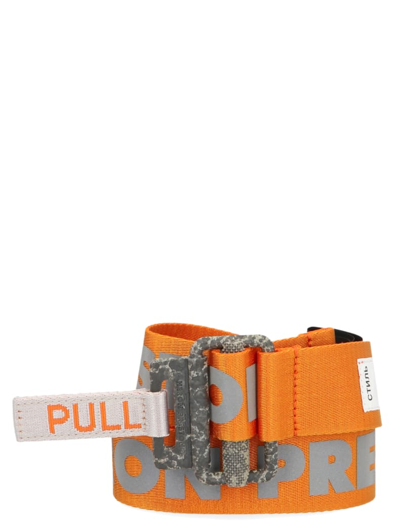 HERON PRESTON 'reflective Tape' Belt - Orange