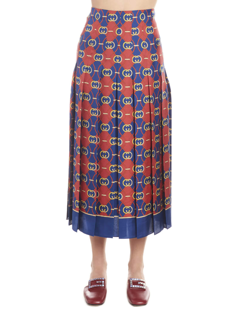 Gucci 'gg Waves Skirt - Multicolor