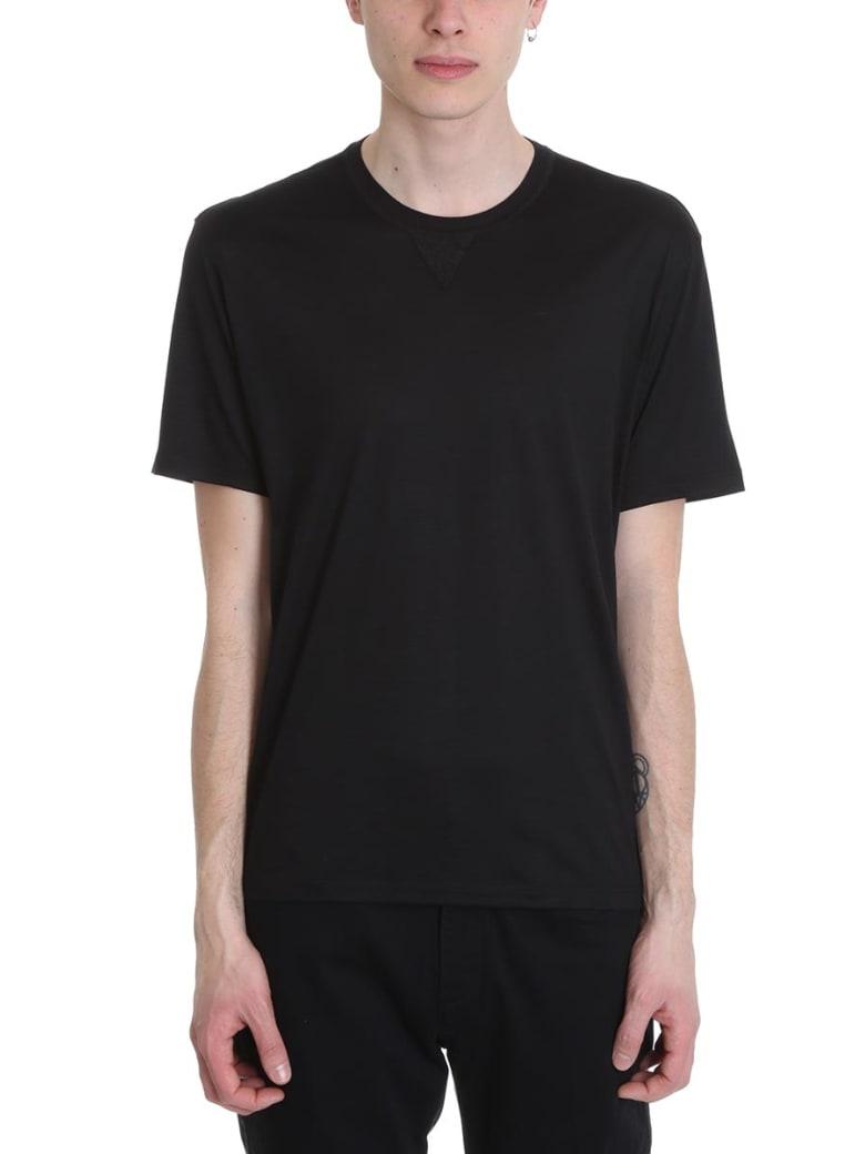 Ermenegildo Zegna Black Wool T-shirt - black