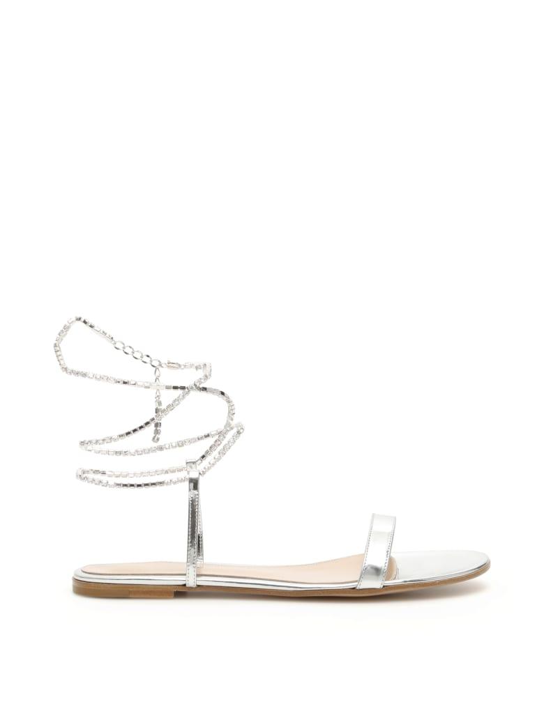 Gianvito Rossi Serena Flat Sandals - SILVER (Silver)