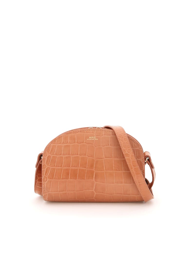 A.P.C. Demi Lune Crossbody Mini Bag - ROSE POUDRE (Pink)