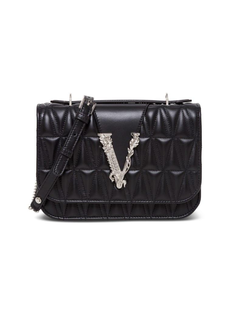Versace Virtus Shoulder Bag - Black