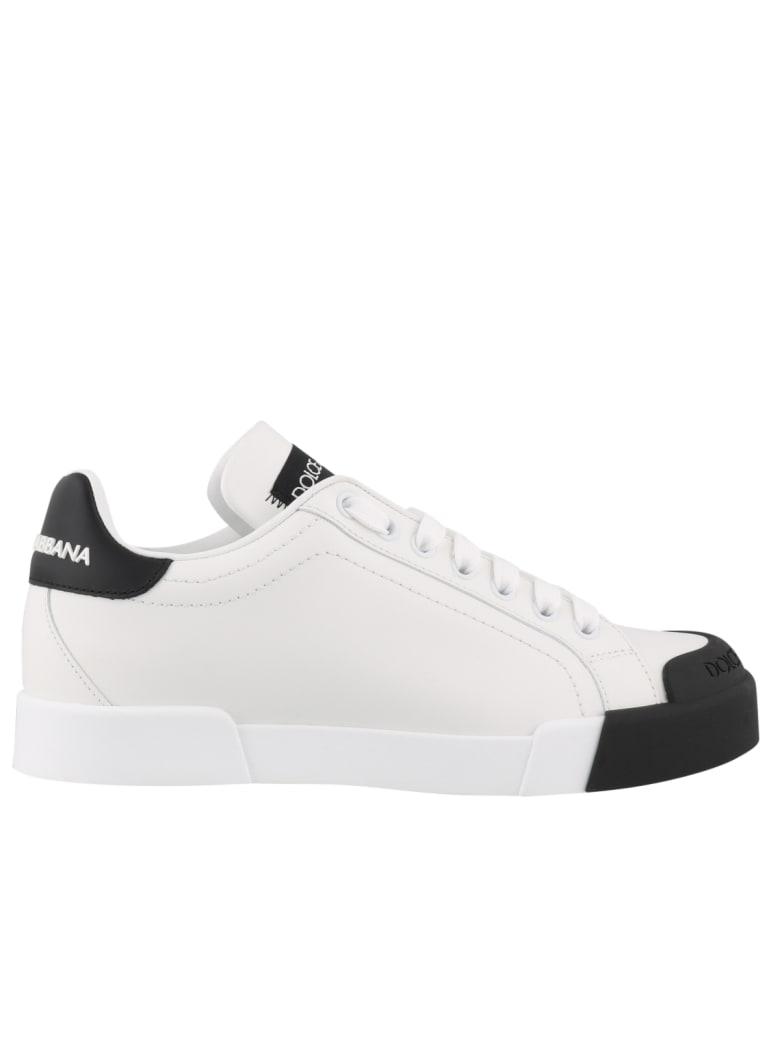 Dolce & Gabbana Portofino Sneakers - Bianco Nero