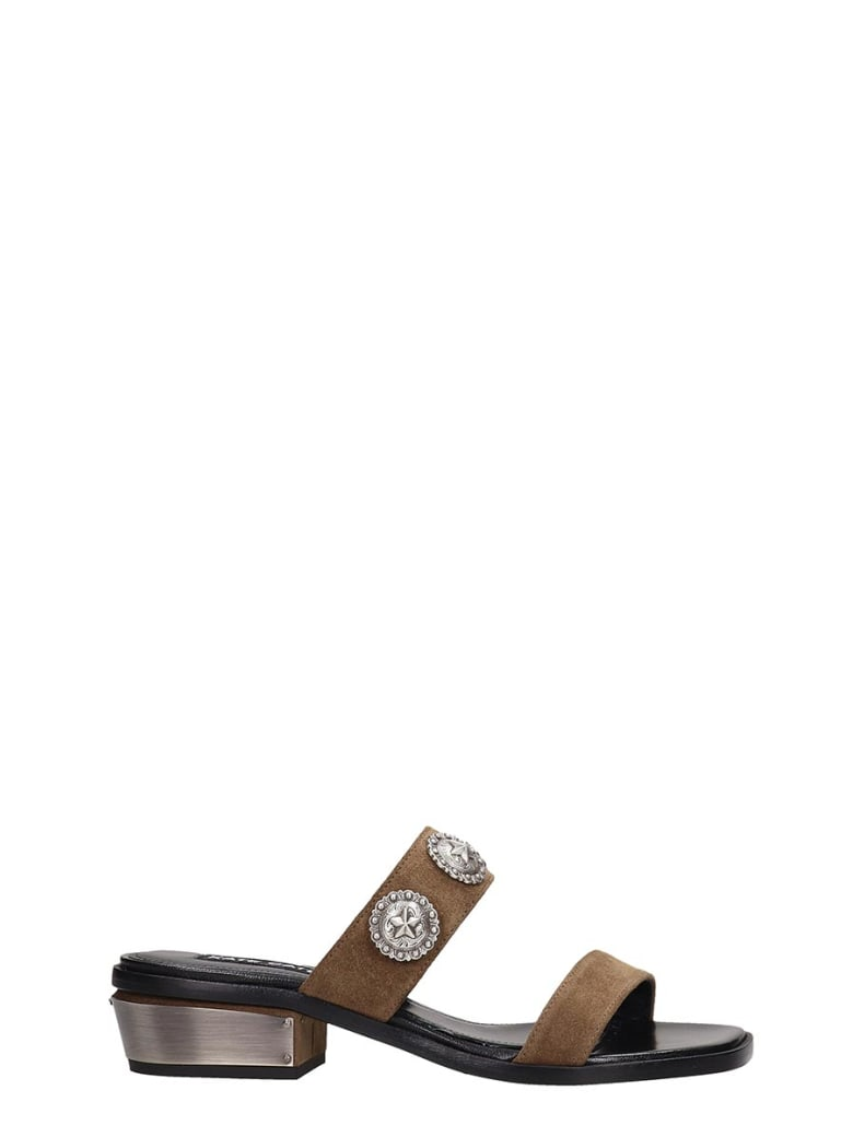 Kate Cate Everydays Flats In Leather Color Suede - leather color