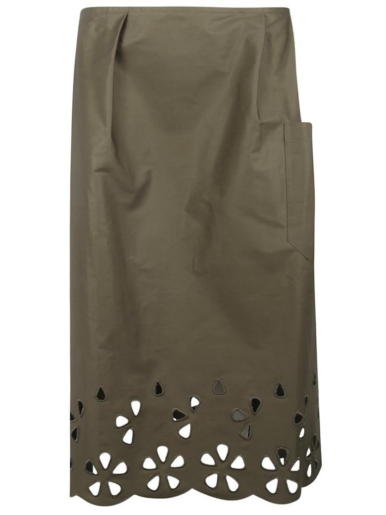 Sofie d'Hoore Cut-out Detail Skirt - Green