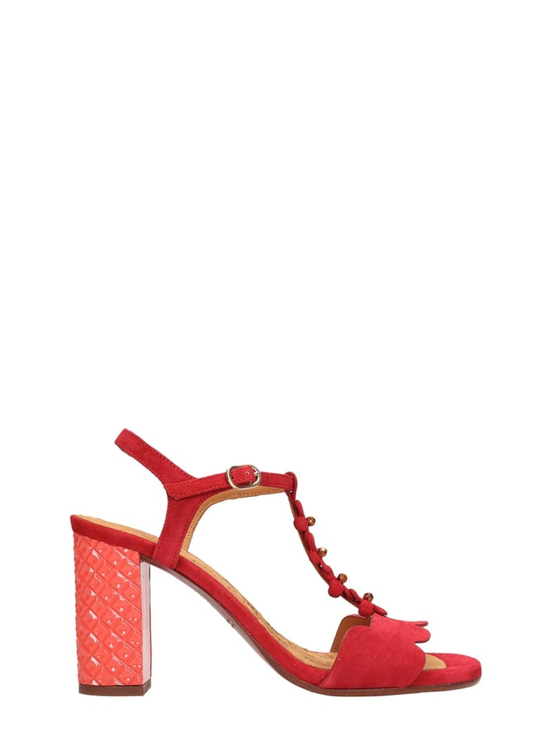 Chie Mihara Red Suede Beijo Sandals - red