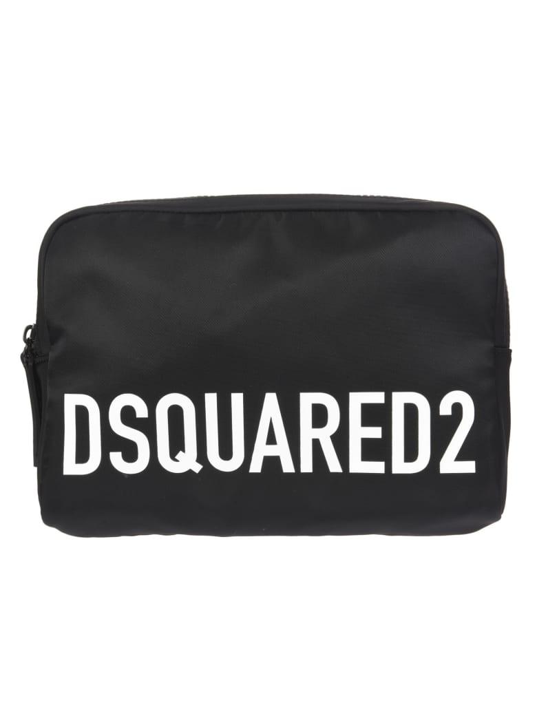 Dsquared2 Logo Printed Belt Bag - Nero