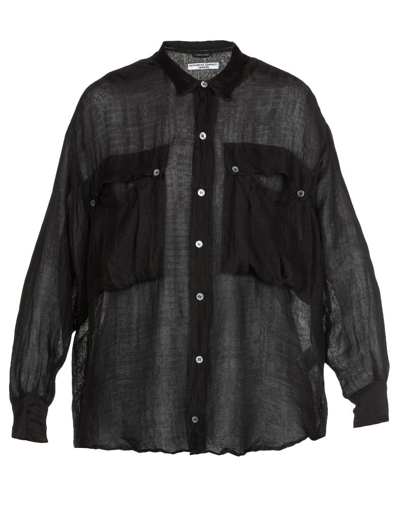 Katharine Hamnett Silk Shirt - BLACK