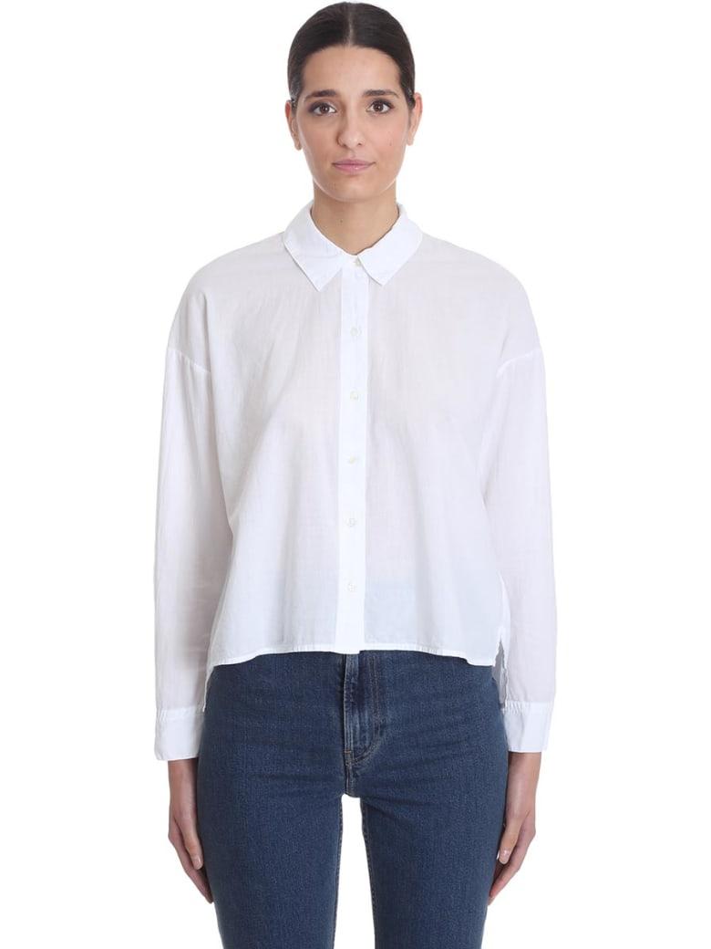 James Perse Shirt In White Cotton - white