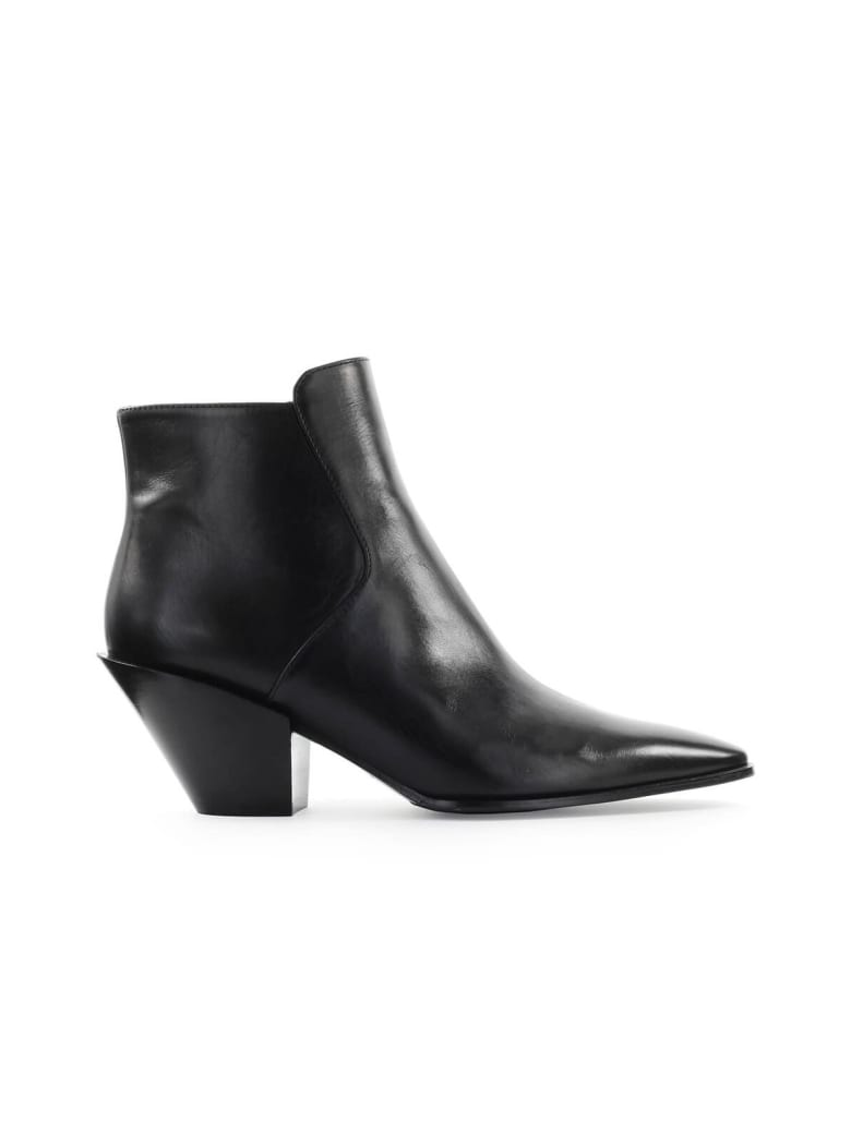 Roberto Festa Black Frediana Texan Style Ankle Boot - Nero (Black)